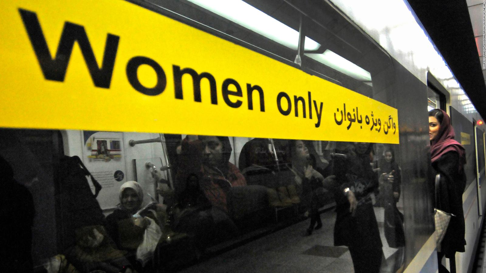 Specific wagons in the subway for women