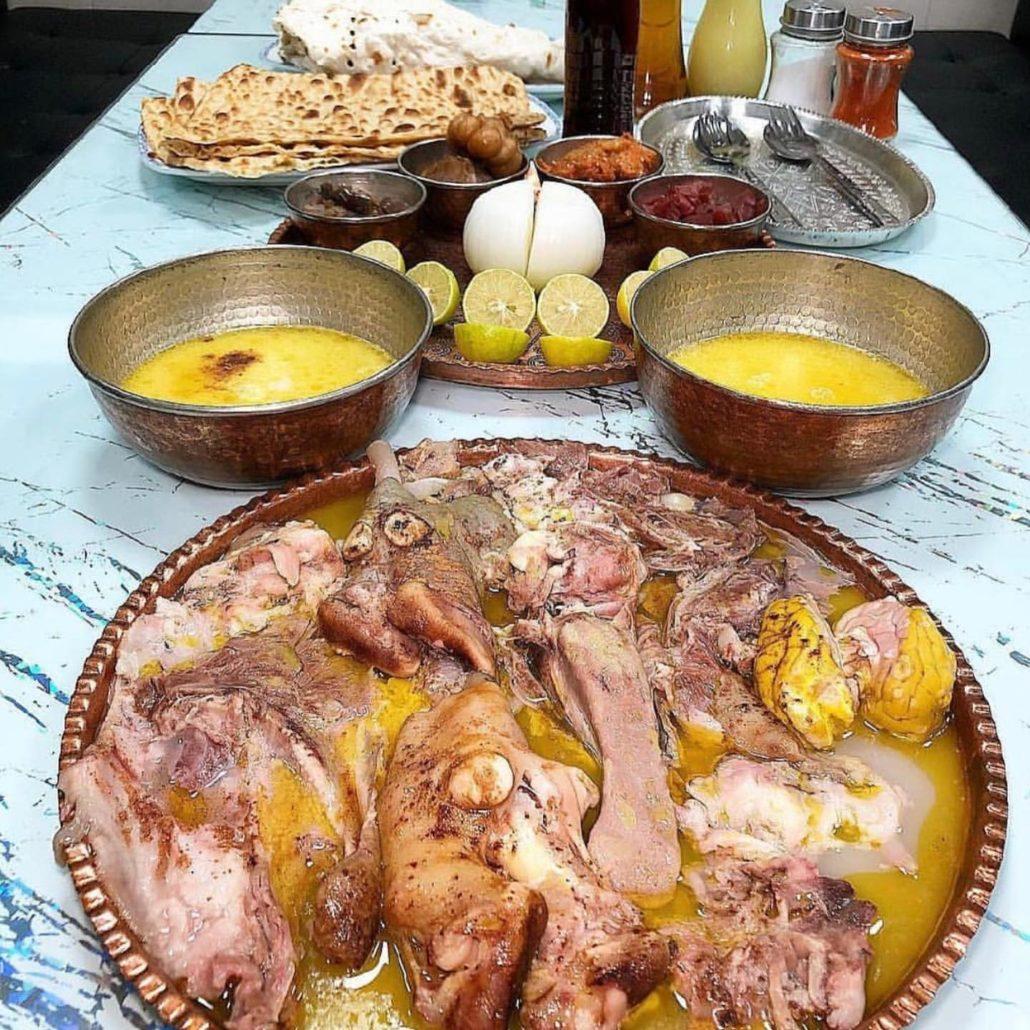Kalleh Pacheh, Persian traditional food