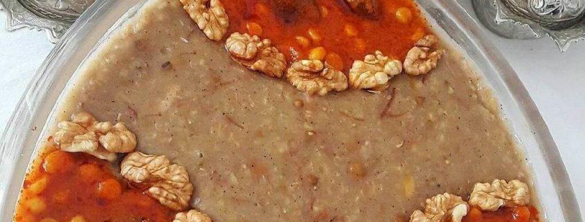Mashhadi Shole Dish with Walnut and Gheyme Stew