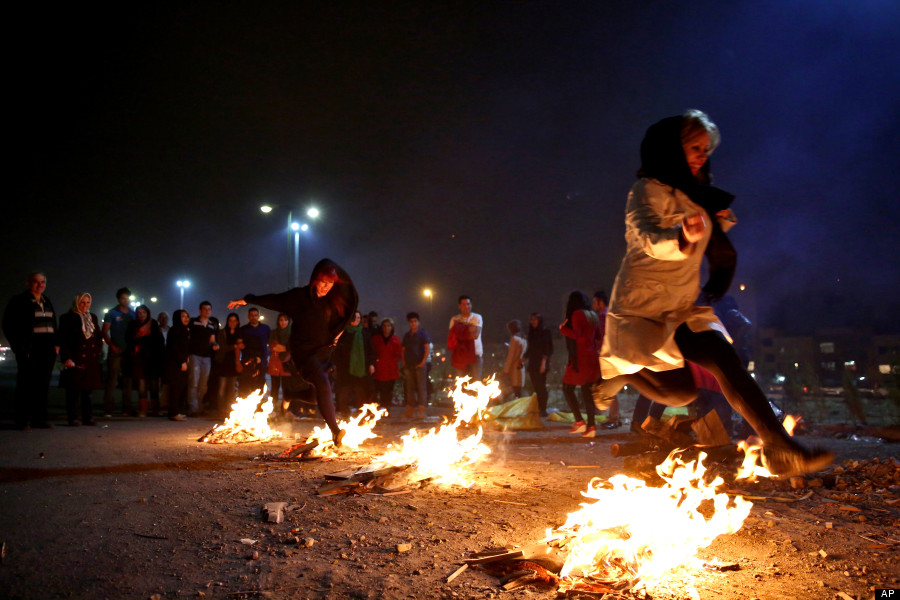 Chaharshanbe Suri festival for fire, in iran