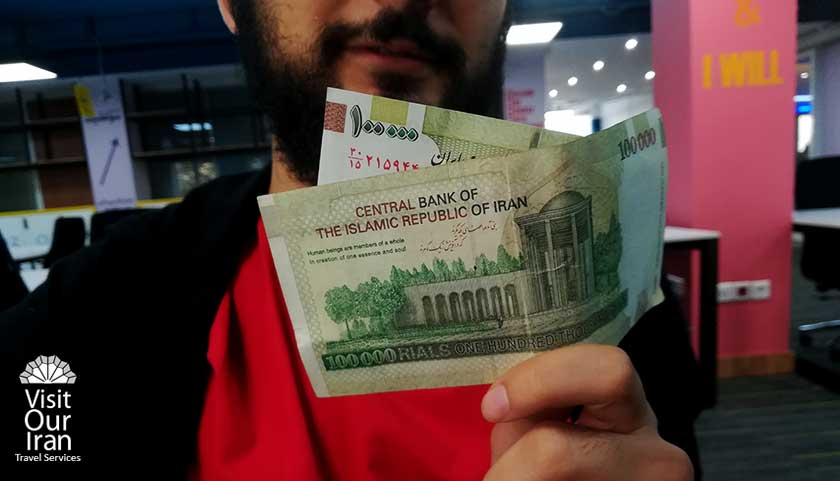 Iranian Banknote 100000 Rials Iran Currency