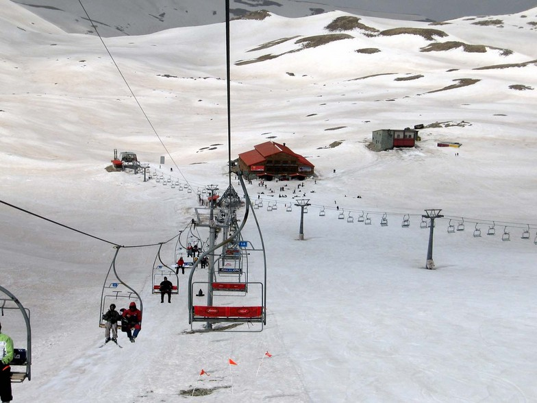 skiing in Tochal Iran
