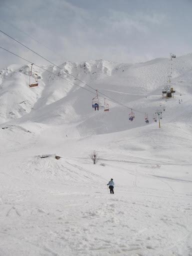 Shemshak Slopes in Iran, ski piste