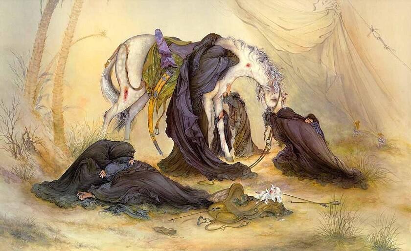 Ashura painting Farshchian Artwork