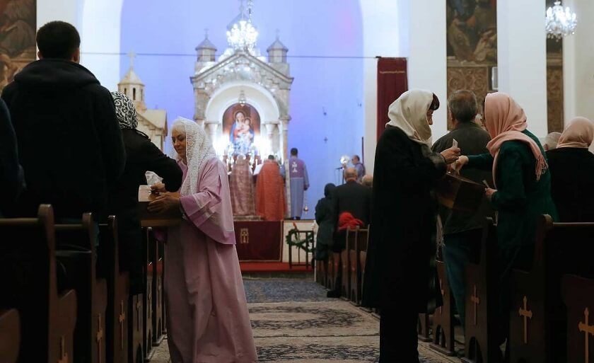 Church ceremonies in Iran