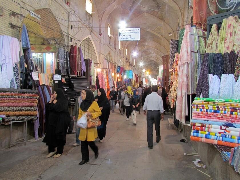 Bazaar of Vakil in Iran