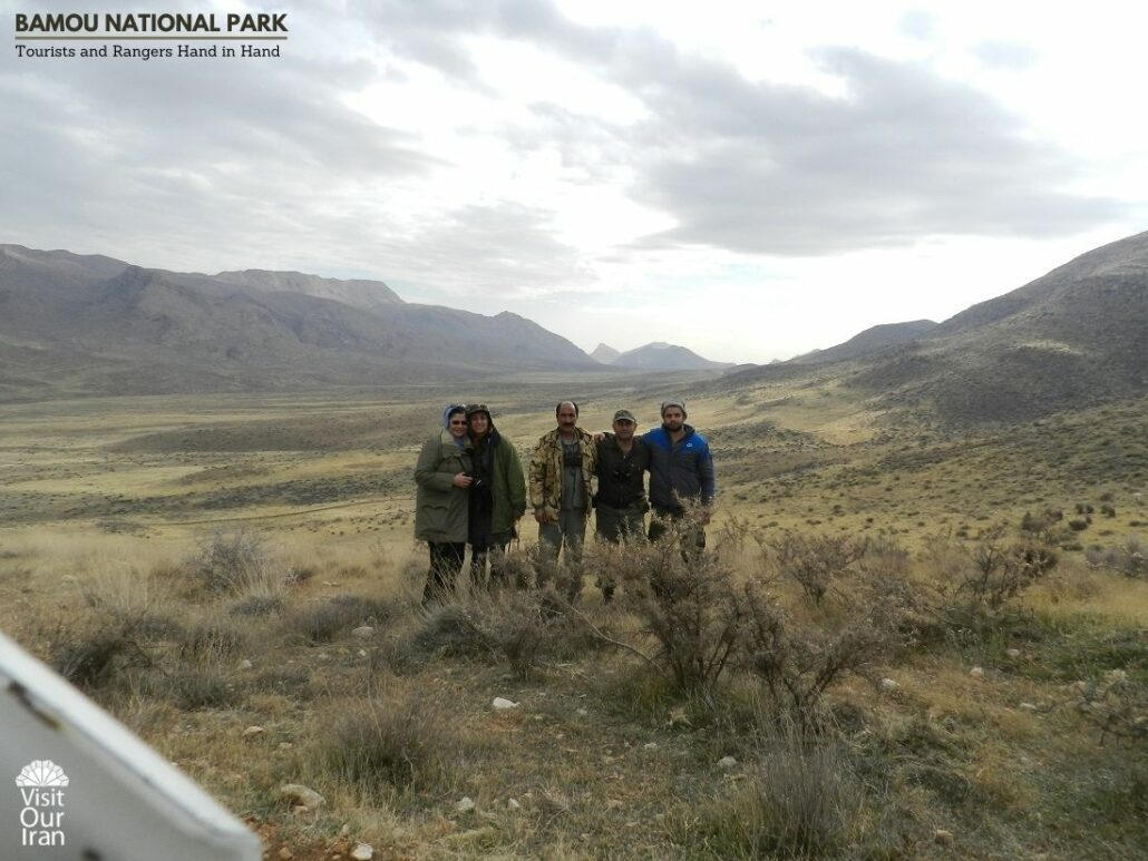 Conservationists in Bamou National Park