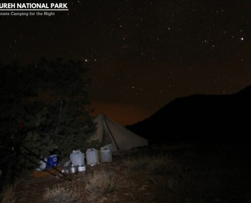 Conservationists Camping for the Night