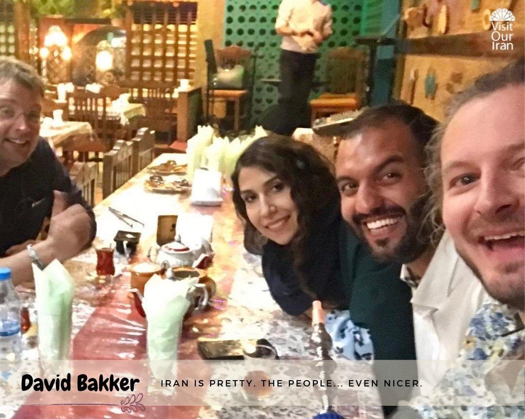 David Bakker in Iran