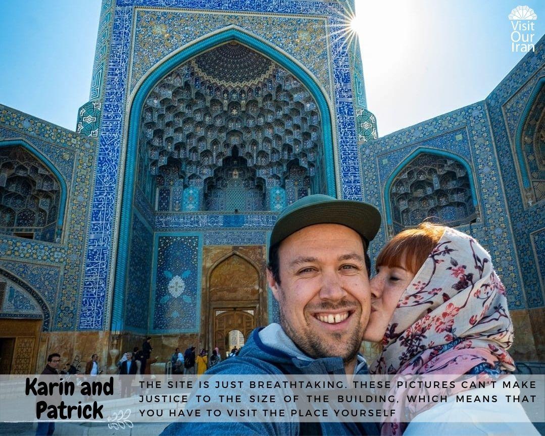 Karin and Patrick in Iran